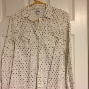 ⚓️Old Navy Anchor Button Down Shirt Size XS
